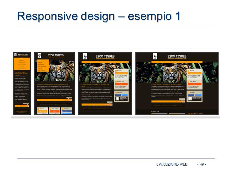 Responsive design – esempio 1