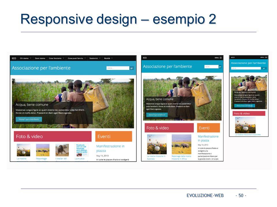 Responsive design – esempio 2