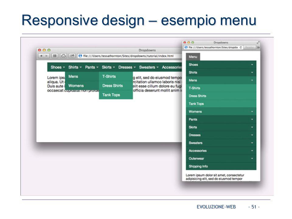 Responsive design – esempio menu