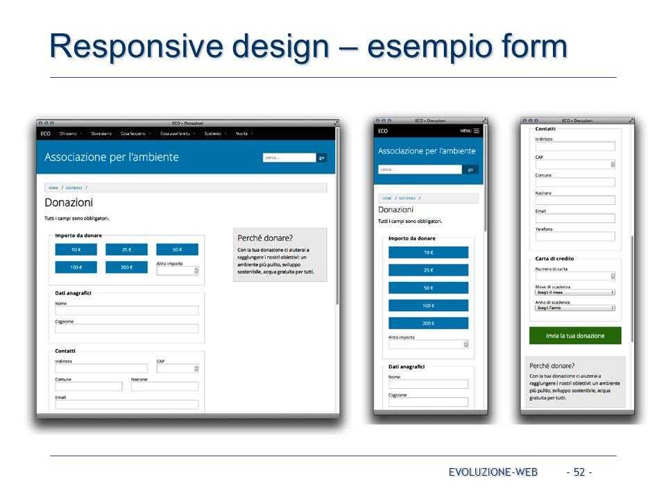 Responsive design – esempio form