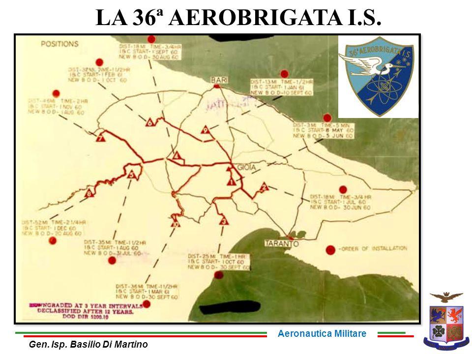 LA 36ª AEROBRIGATA I.S. Aeronautica Militare