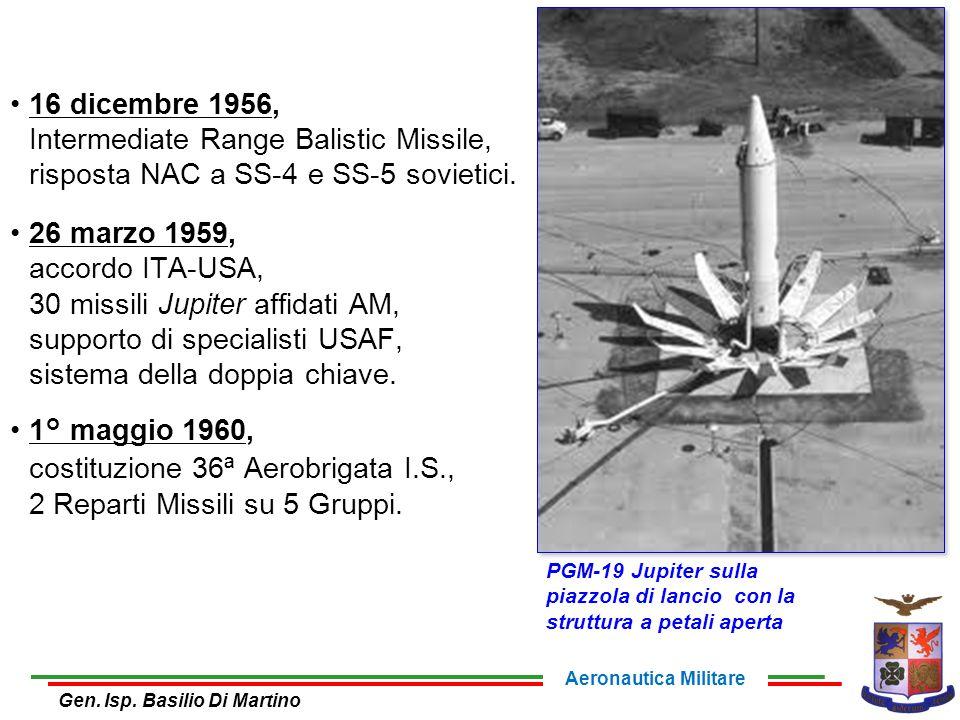 16 dicembre 1956, Intermediate Range Balistic Missile, risposta NAC a SS-4 e SS-5 sovietici.