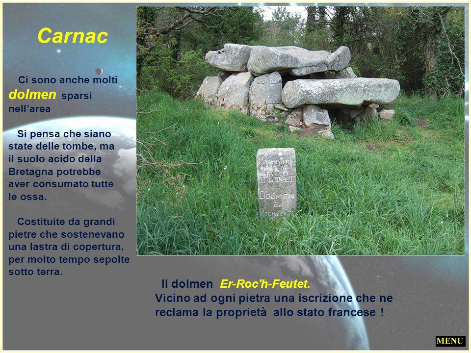 Carnac Ci sono anche molti dolmen sparsi nell'area