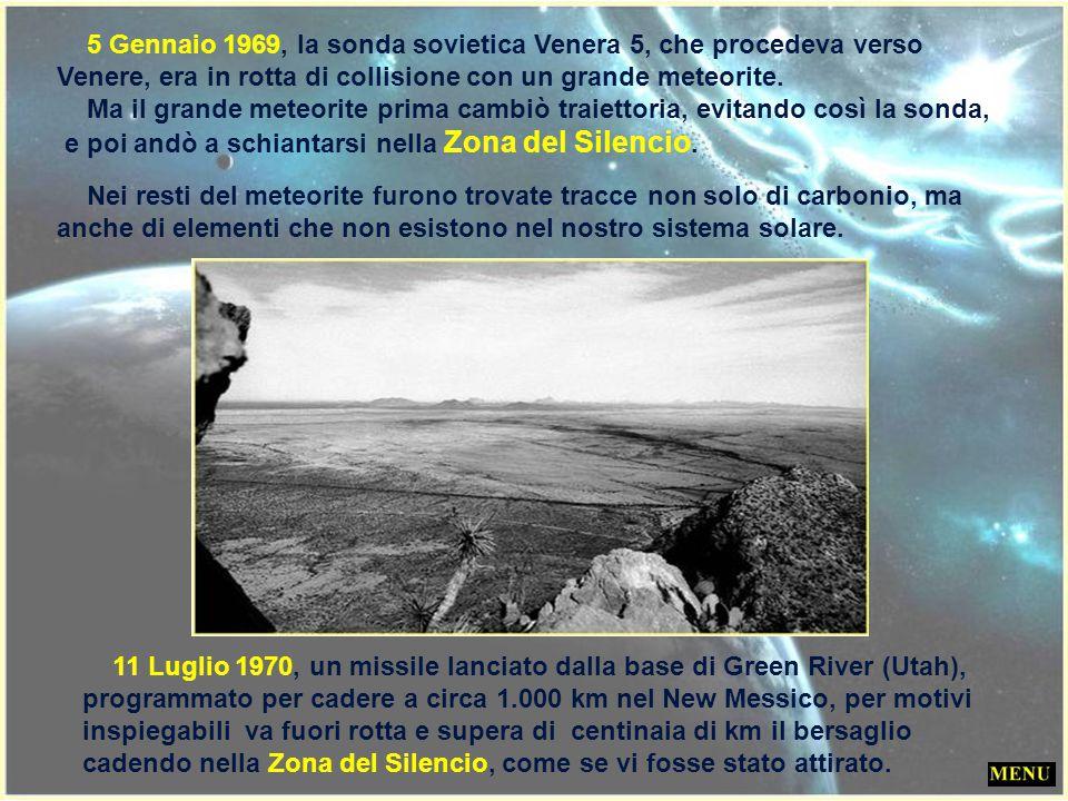 5 Gennaio 1969, la sonda sovietica Venera 5, che procedeva verso Venere, era in rotta di collisione con un grande meteorite.