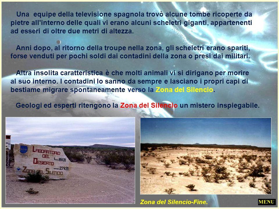 Una equipe della televisione spagnola trovò alcune tombe ricoperte da pietre all interno delle quali vi erano alcuni scheletri giganti, appartenenti ad esseri di oltre due metri di altezza.