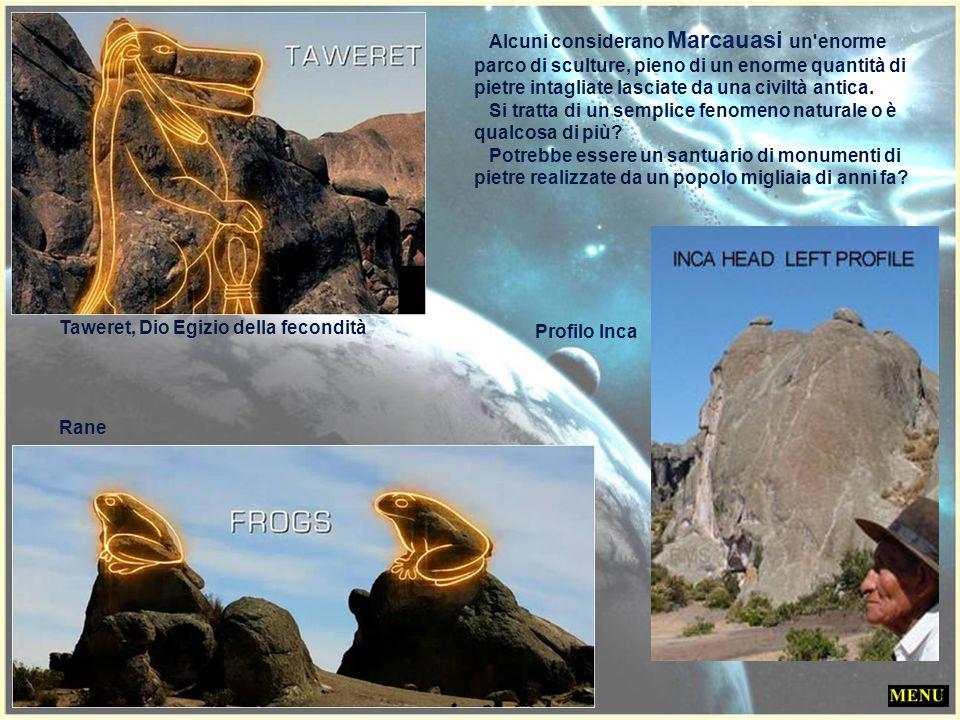 Alcuni considerano Marcauasi un enorme parco di sculture, pieno di un enorme quantità di pietre intagliate lasciate da una civiltà antica.