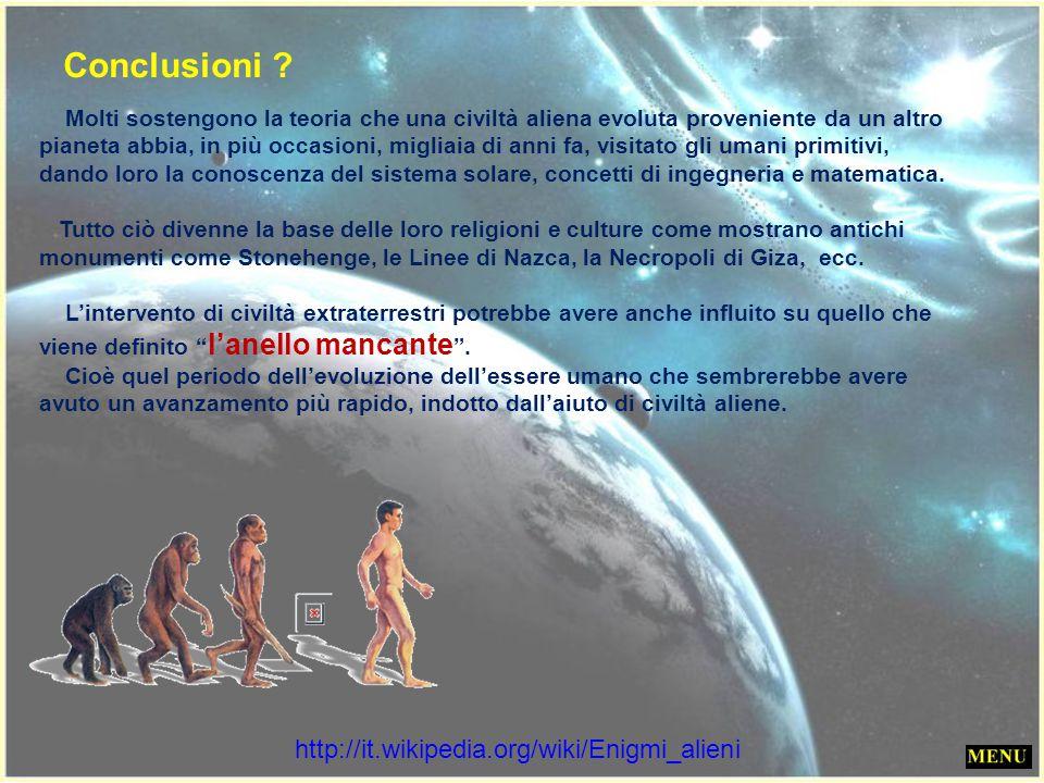Conclusioni http://it.wikipedia.org/wiki/Enigmi_alieni