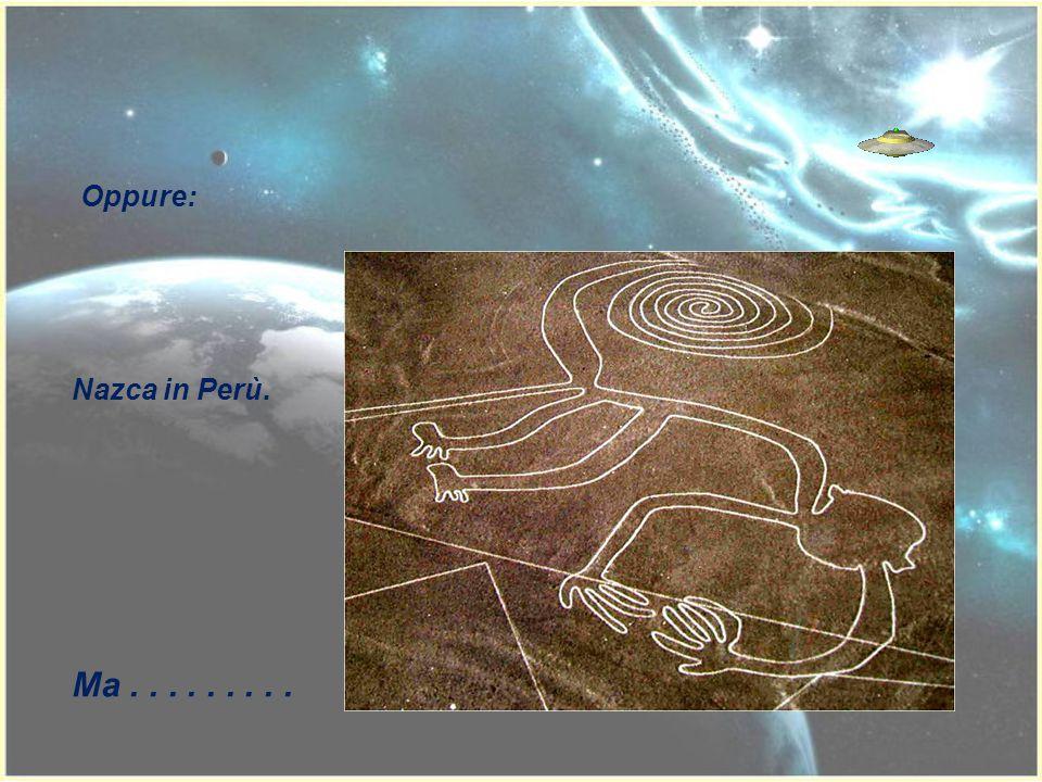 Oppure: Nazca in Perù. Ma . . . . . . . . .