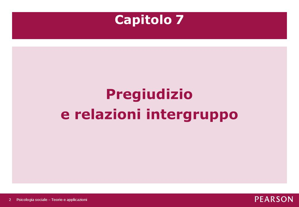 Pregiudizio e relazioni intergruppo
