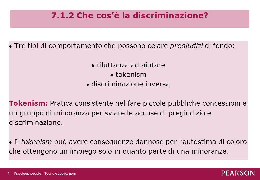 7.1.2 Che cos'è la discriminazione