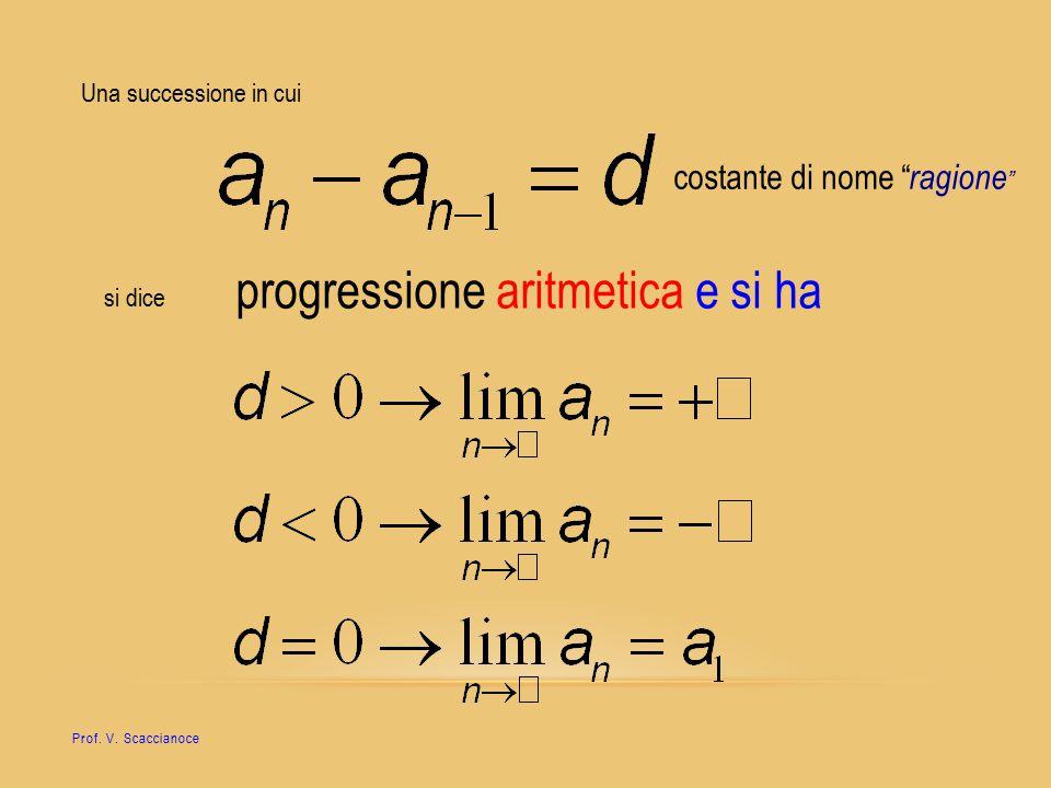 progressione aritmetica e si ha