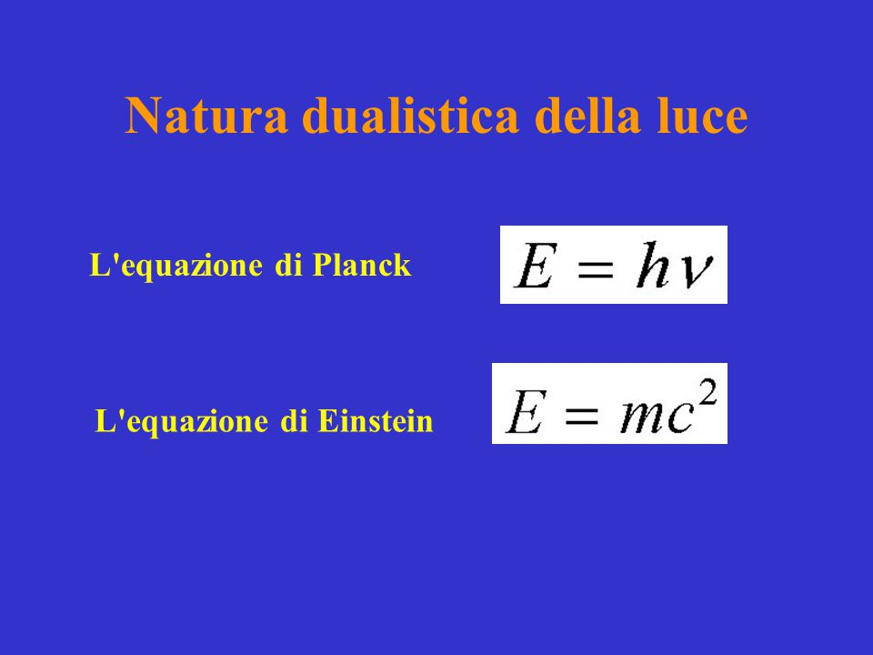 Natura dualistica della luce