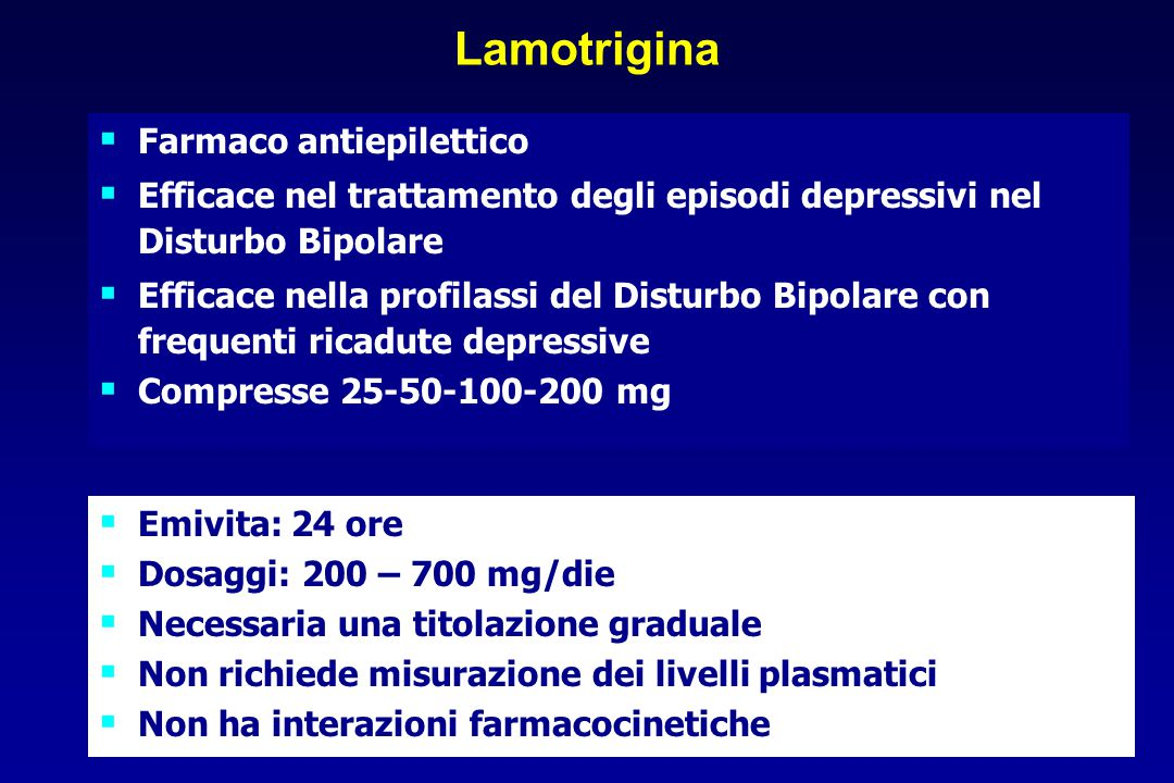 Lamotrigina Farmaco antiepilettico