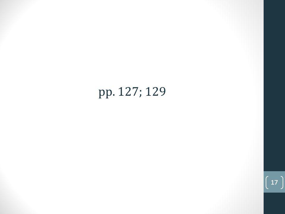 pp. 127; 129