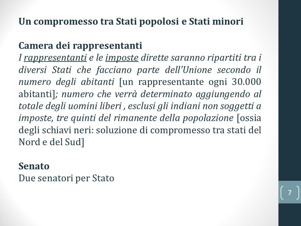 Un compromesso tra Stati popolosi e Stati minori