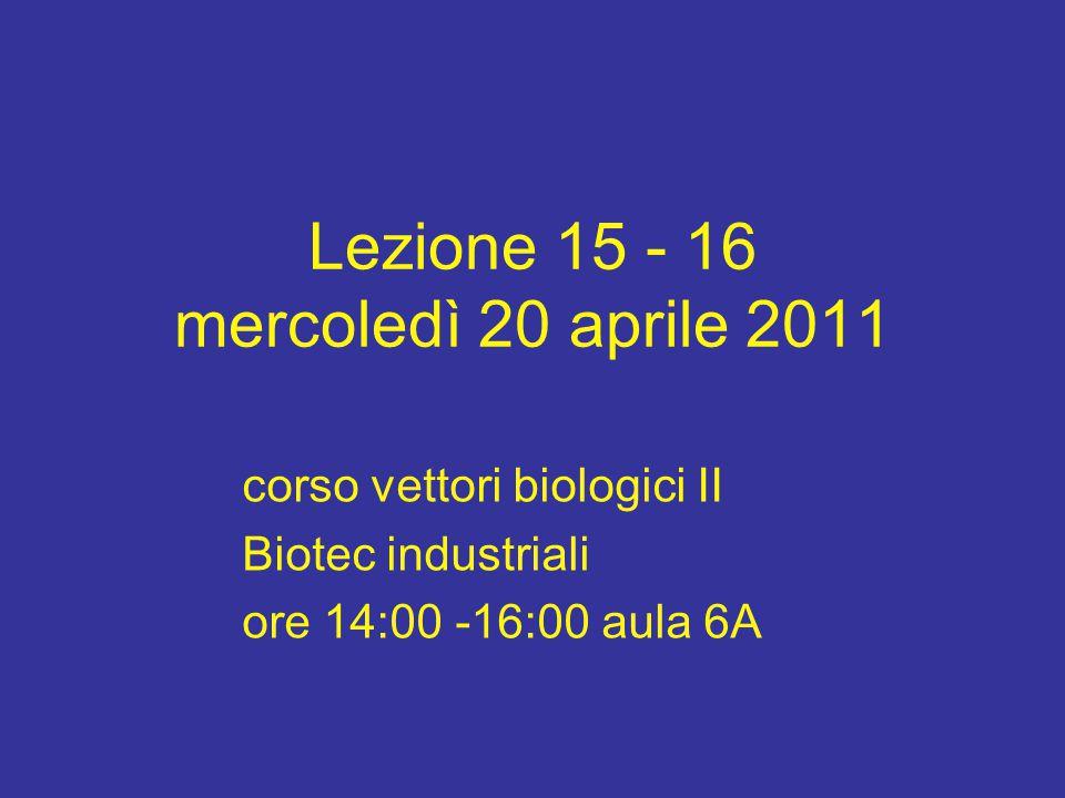 Lezione 15 - 16 mercoledì 20 aprile 2011
