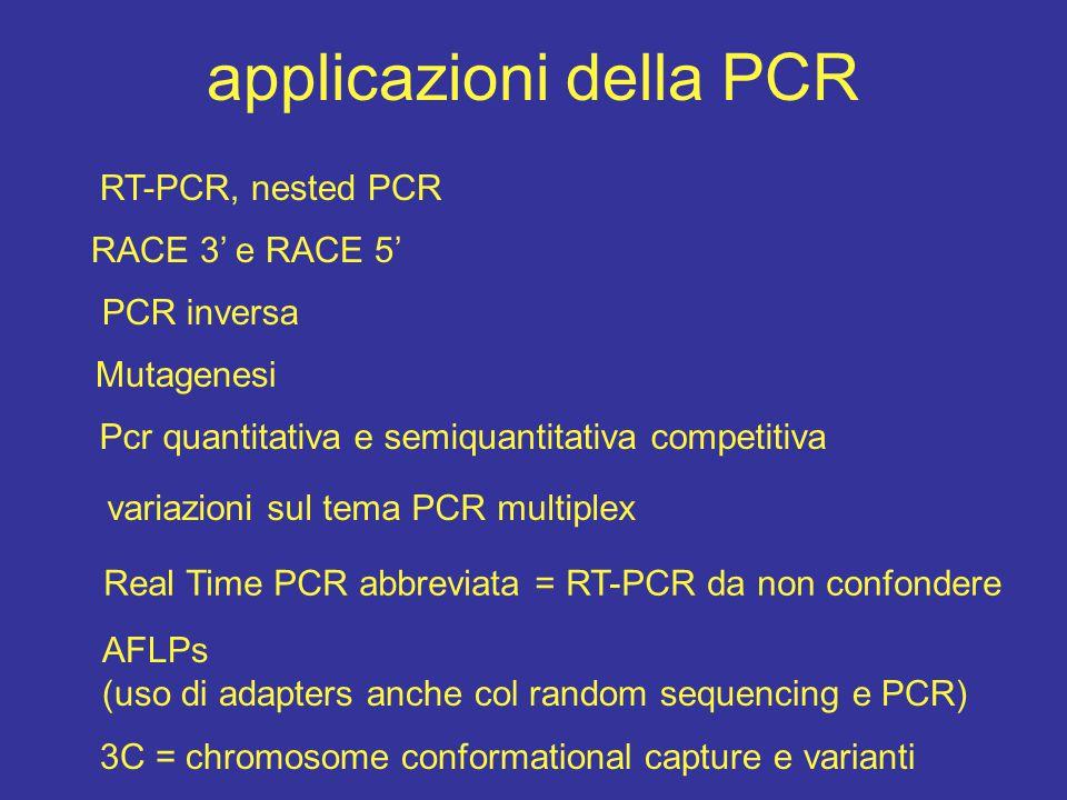 applicazioni della PCR
