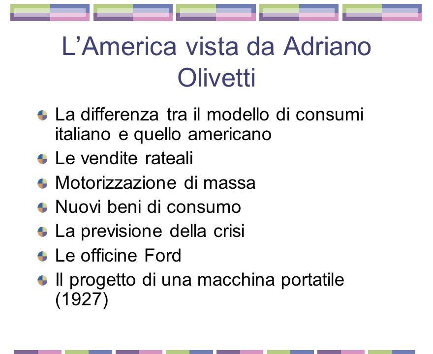 L'America vista da Adriano Olivetti