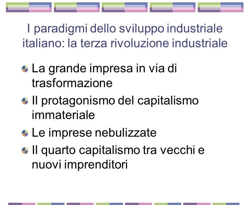 I paradigmi dello sviluppo industriale italiano: la terza rivoluzione industriale