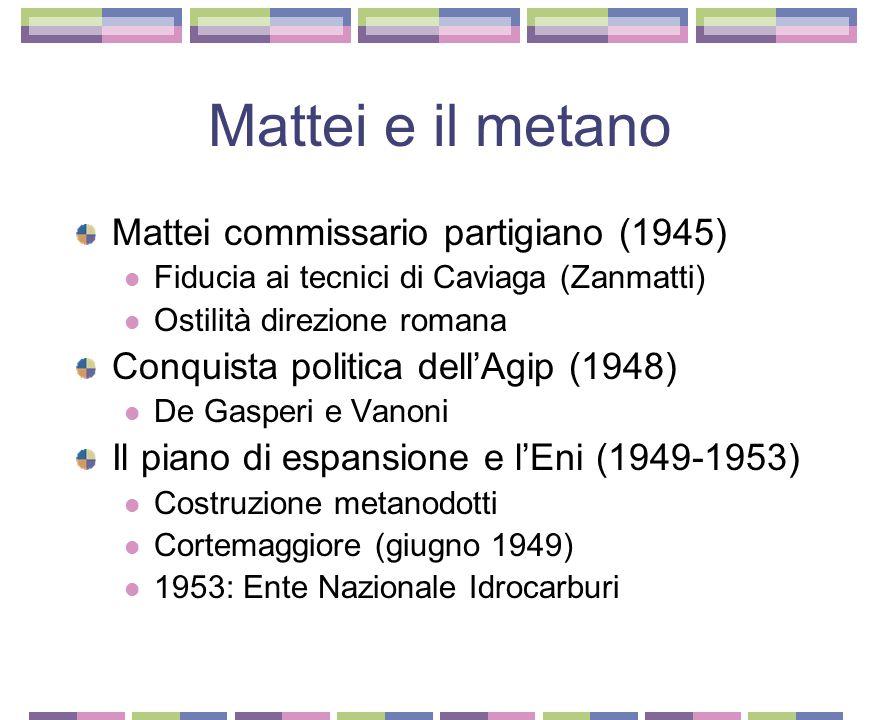 Mattei e il metano Mattei commissario partigiano (1945)