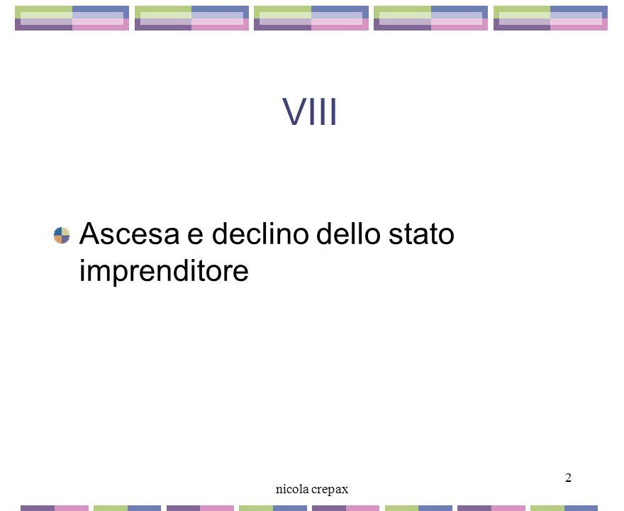 VIII Ascesa e declino dello stato imprenditore 2 nicola crepax 2