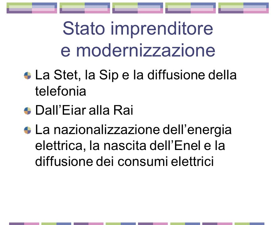 Stato imprenditore e modernizzazione