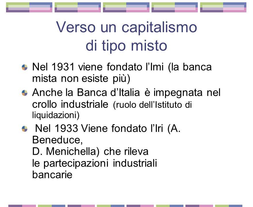 Verso un capitalismo di tipo misto