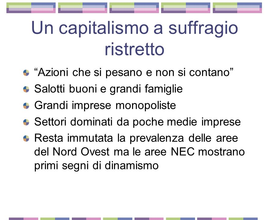 Un capitalismo a suffragio ristretto