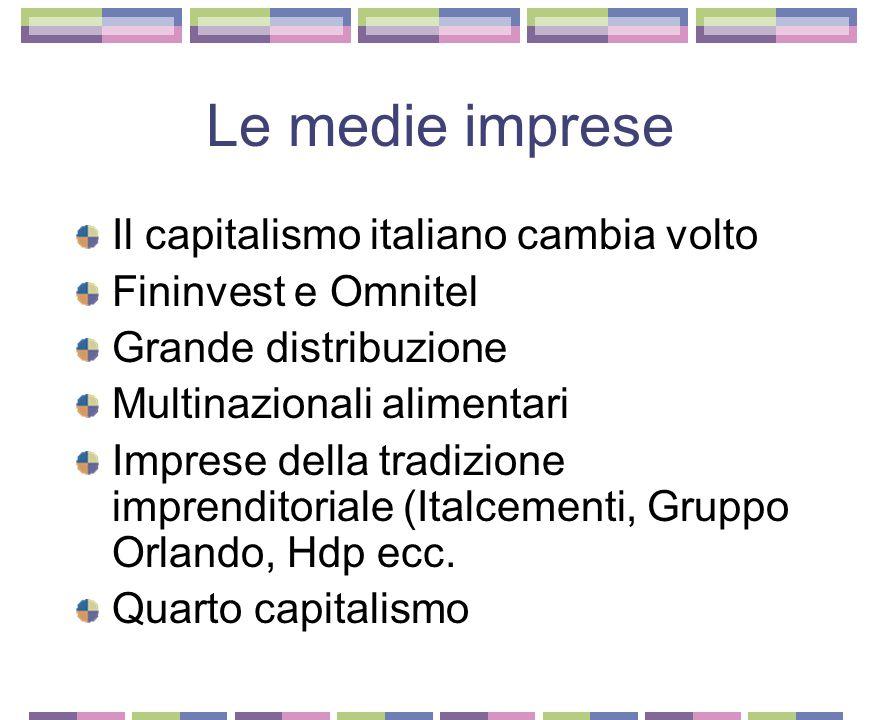 Le medie imprese Il capitalismo italiano cambia volto
