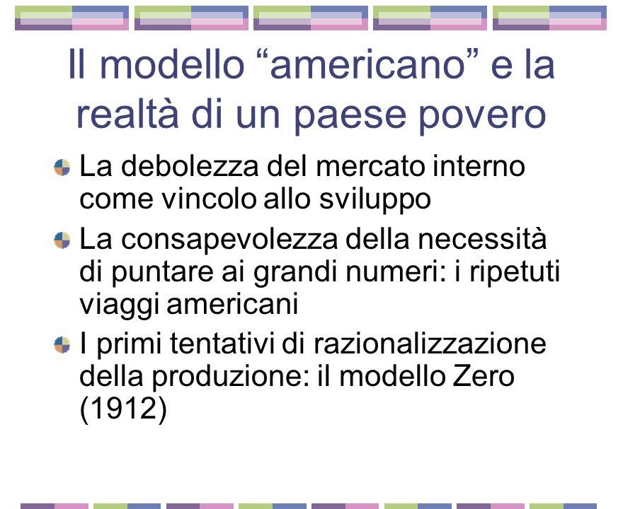 Il modello americano e la realtà di un paese povero