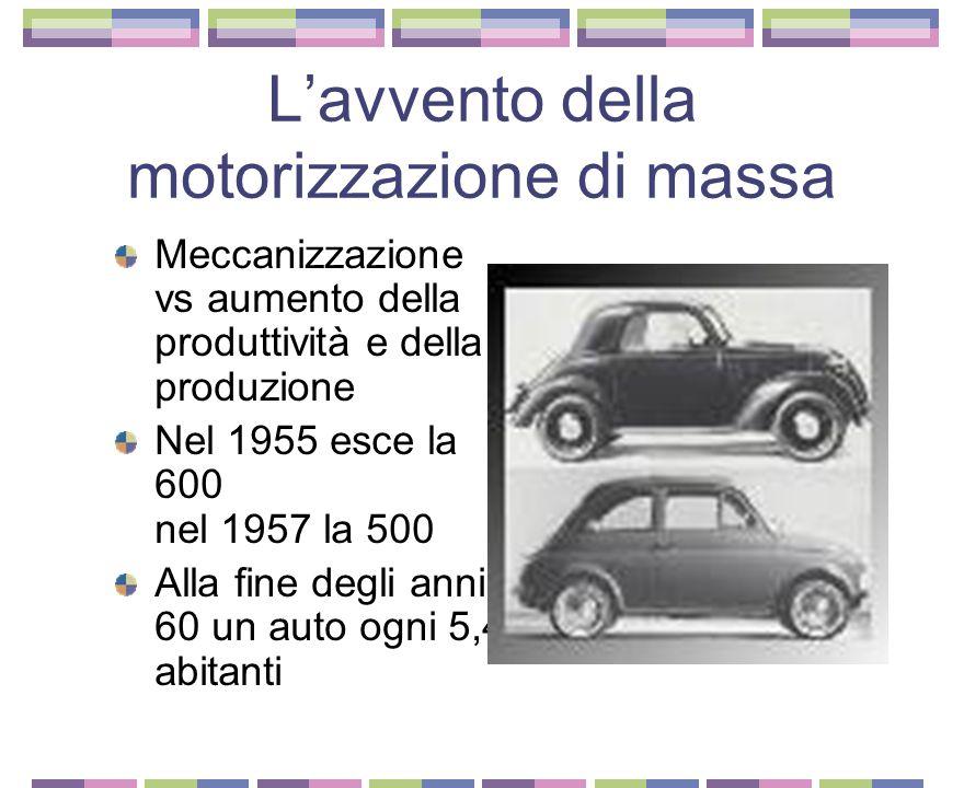 L'avvento della motorizzazione di massa