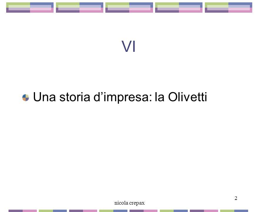 VI Una storia d'impresa: la Olivetti 2 nicola crepax 2