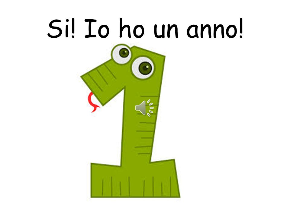 Si! Io ho un anno! Please note that anno becomes singular and there is no longer an I on the end!