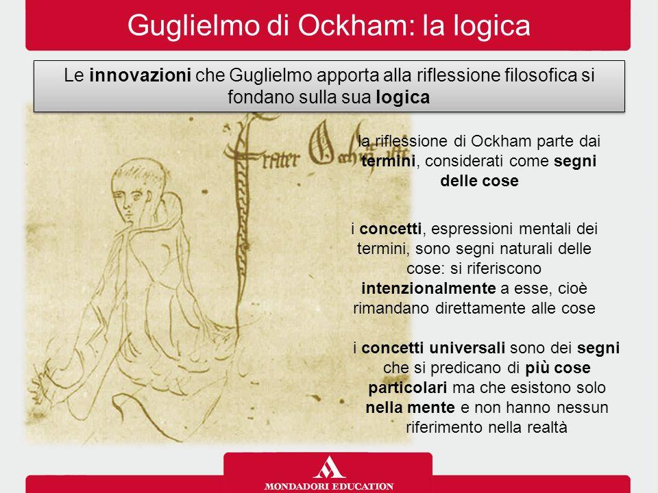 Guglielmo di Ockham: la logica