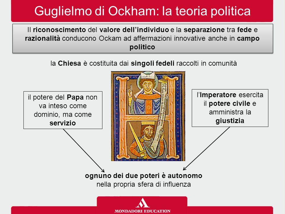 Guglielmo di Ockham: la teoria politica
