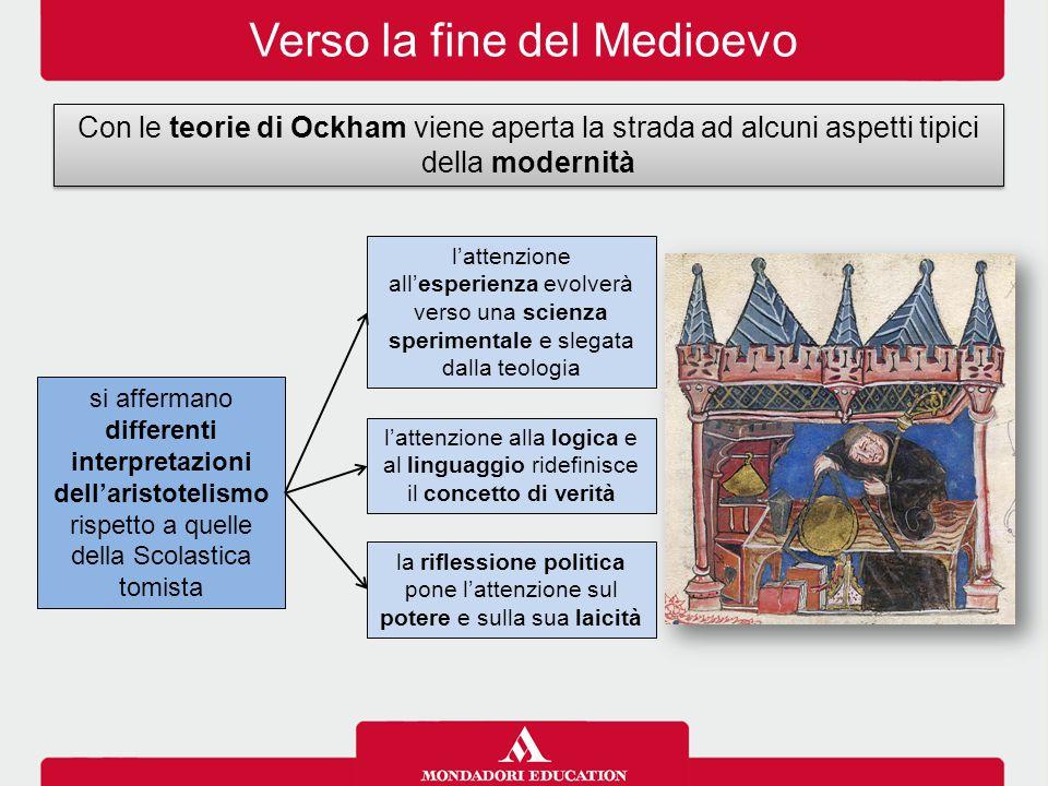 Verso la fine del Medioevo