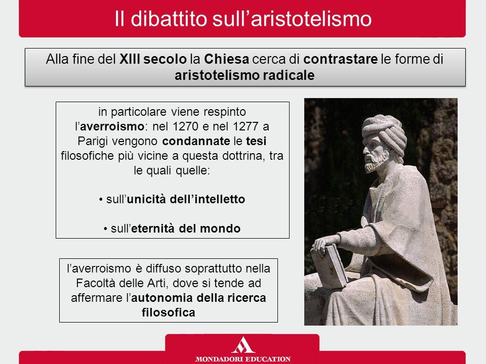 Il dibattito sull'aristotelismo