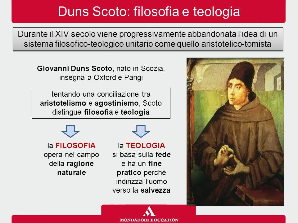 Duns Scoto: filosofia e teologia