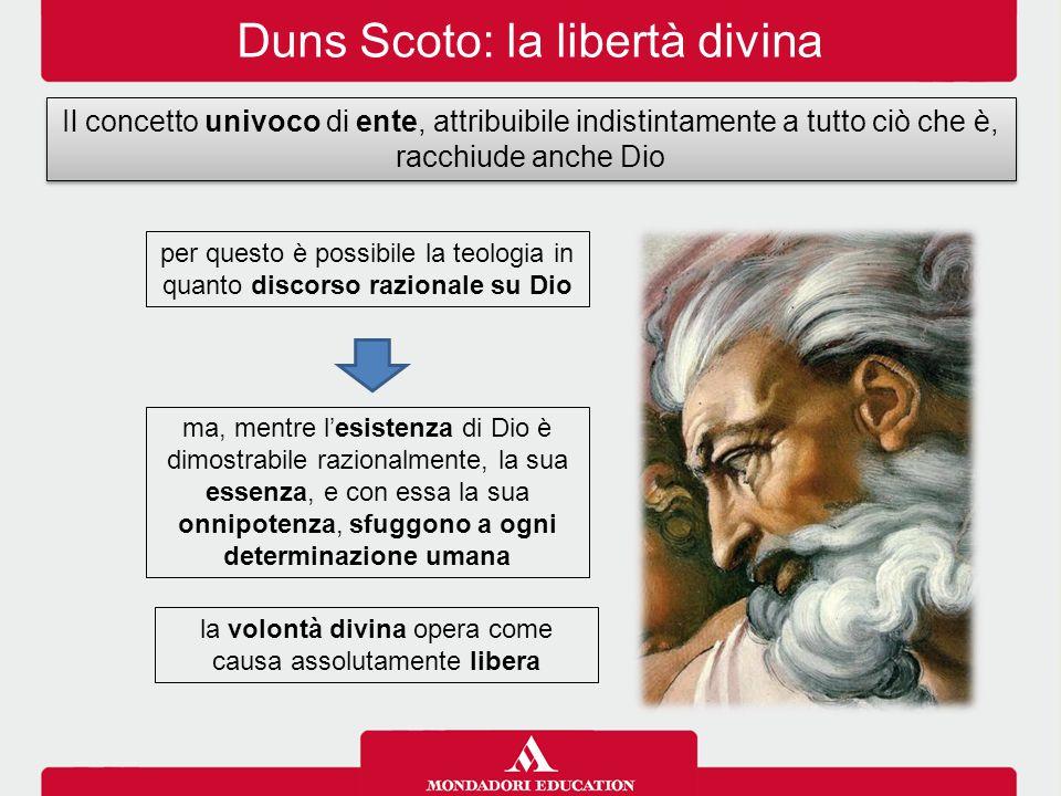 Duns Scoto: la libertà divina