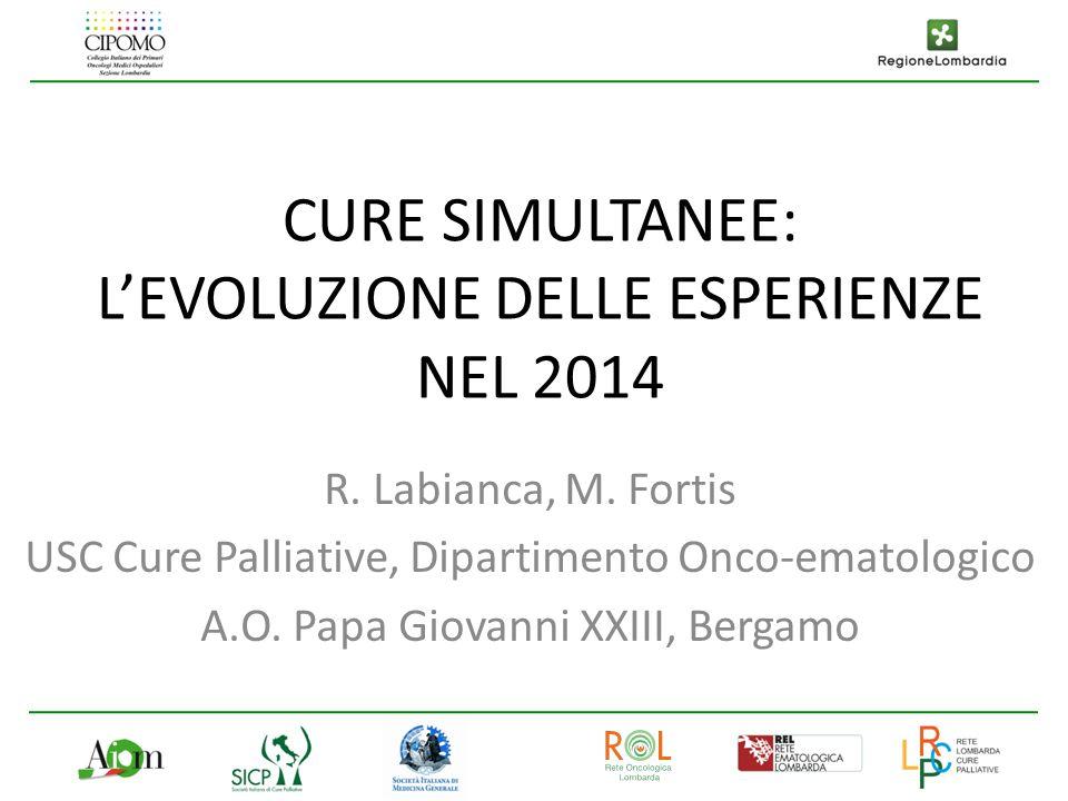 CURE SIMULTANEE: L'EVOLUZIONE DELLE ESPERIENZE NEL 2014