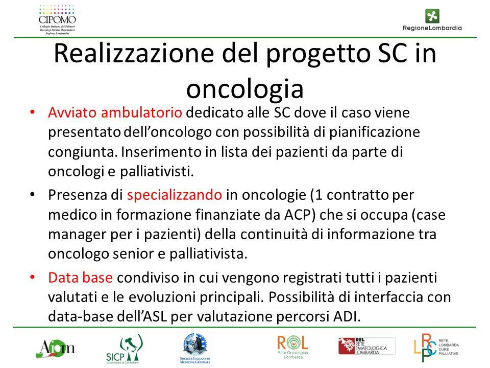 Realizzazione del progetto SC in oncologia