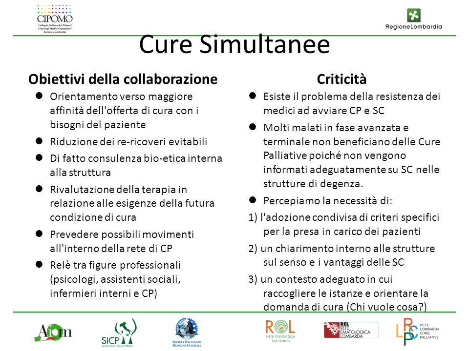 Cure Simultanee Obiettivi della collaborazione Criticità
