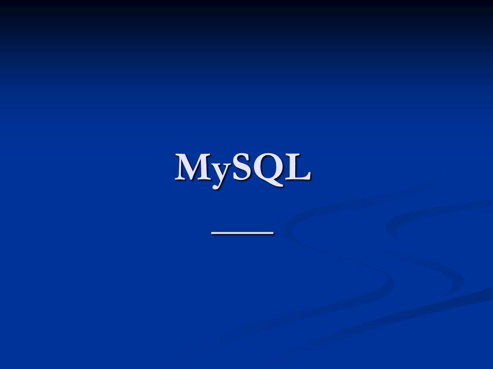 MySQL ___