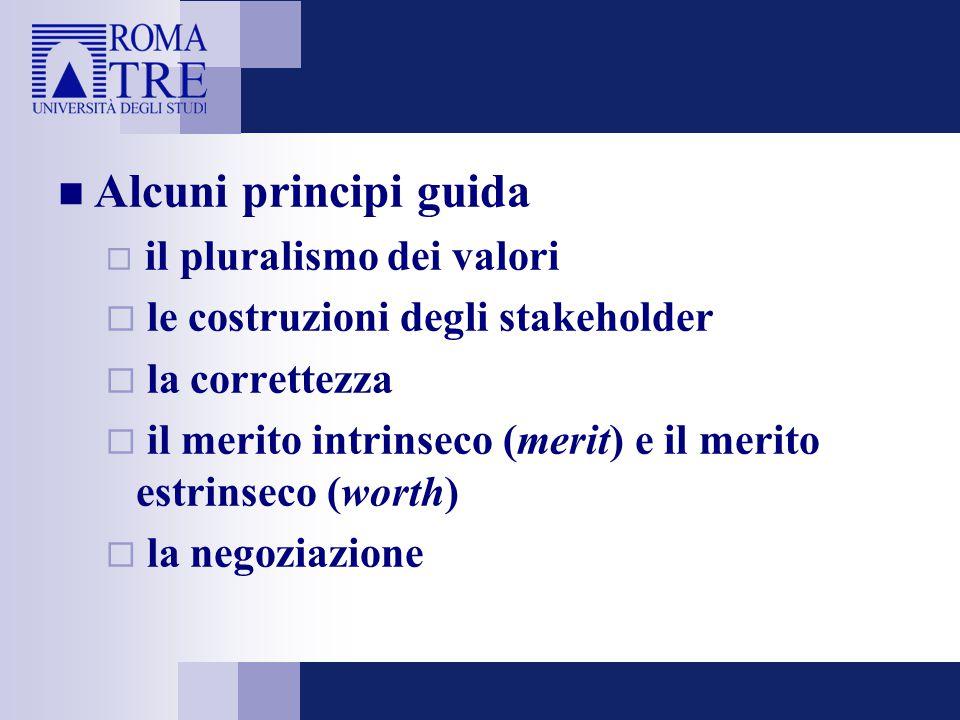 Alcuni principi guida le costruzioni degli stakeholder la correttezza