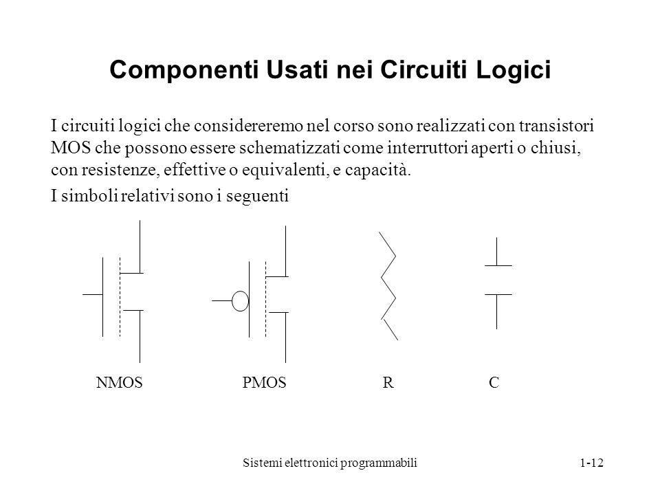 Componenti Usati nei Circuiti Logici