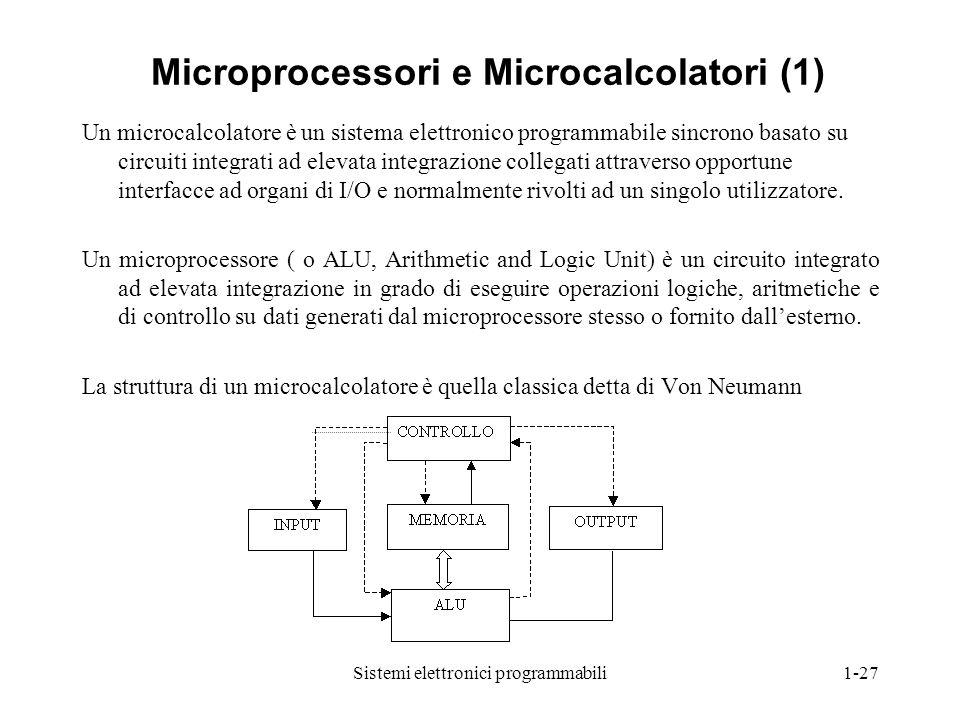 Microprocessori e Microcalcolatori (1)