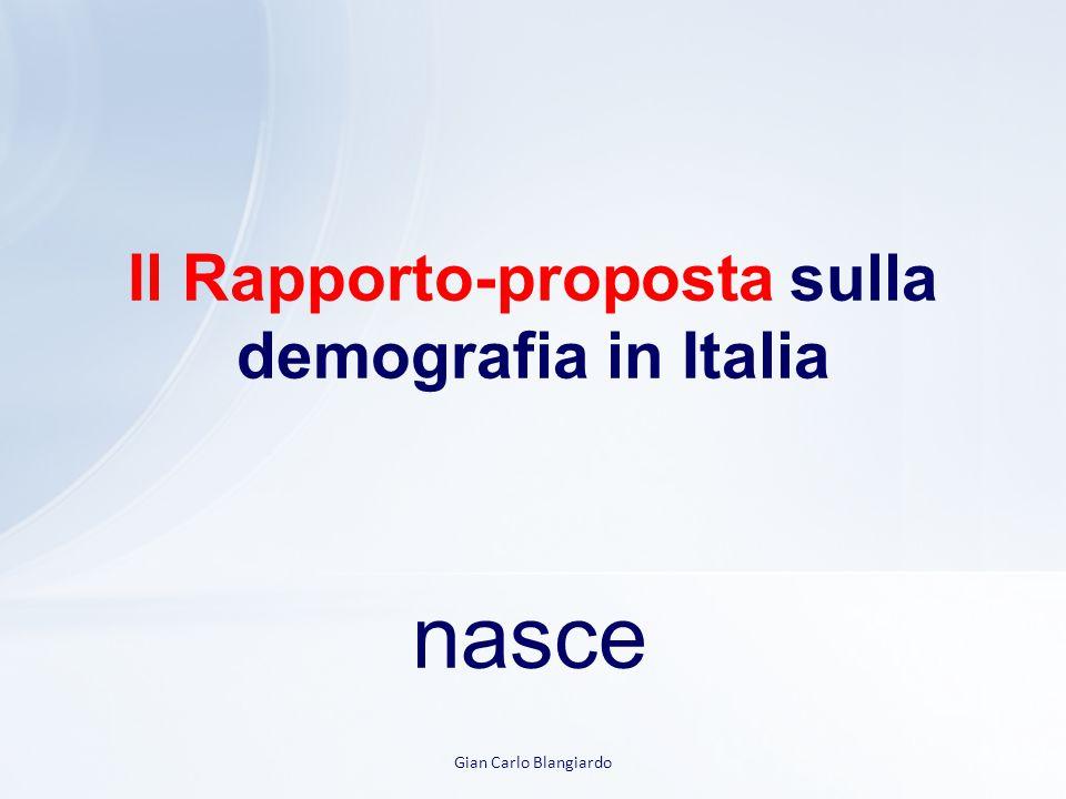 Il Rapporto-proposta sulla demografia in Italia