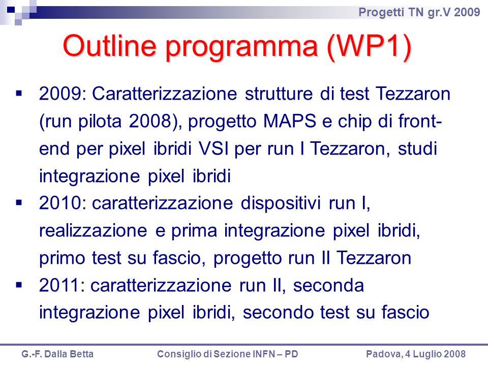 Outline programma (WP1)