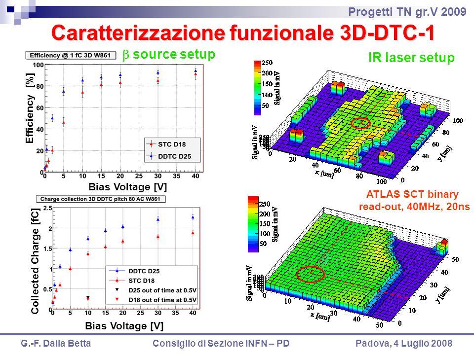 Caratterizzazione funzionale 3D-DTC-1