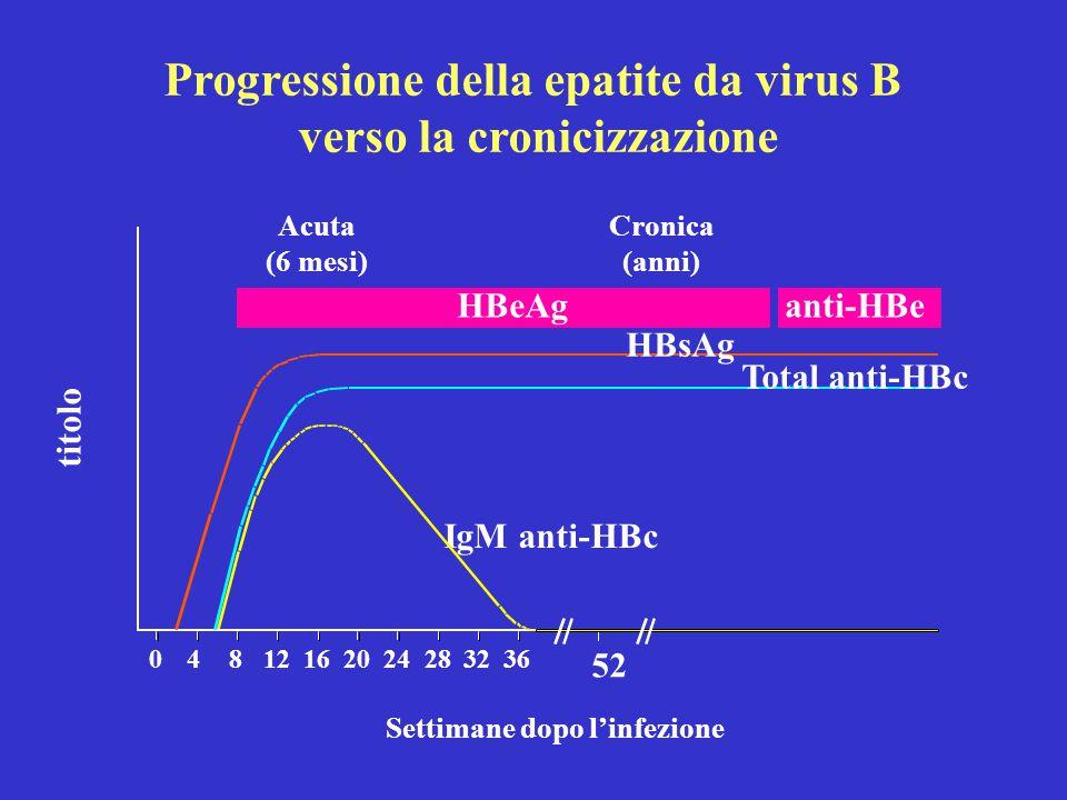 Progressione della epatite da virus B verso la cronicizzazione